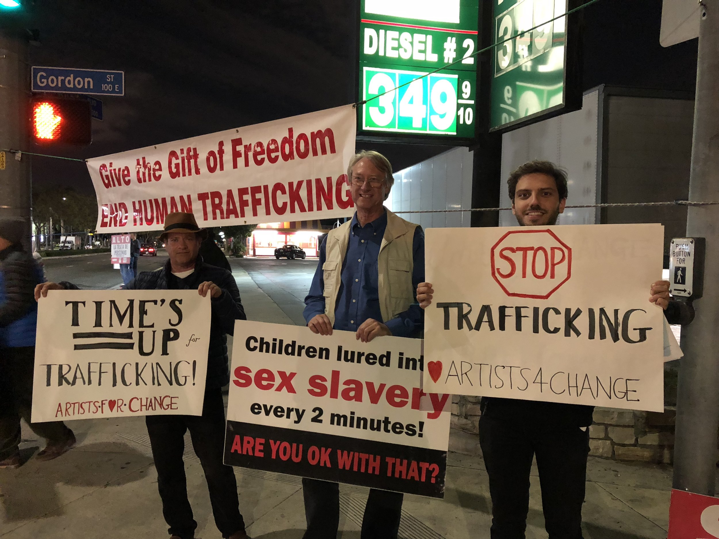 """We Attended """"Men Against Trafficking"""" March"""