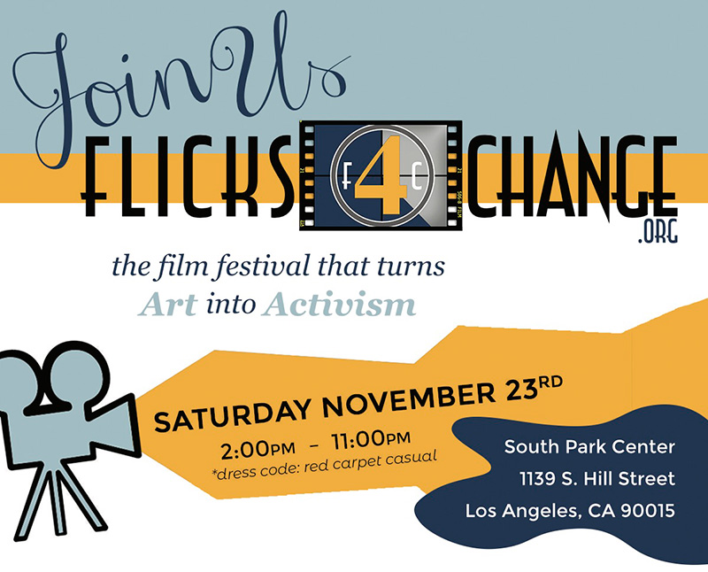 Join Artists4Change at the Flicks4Change Film Festival