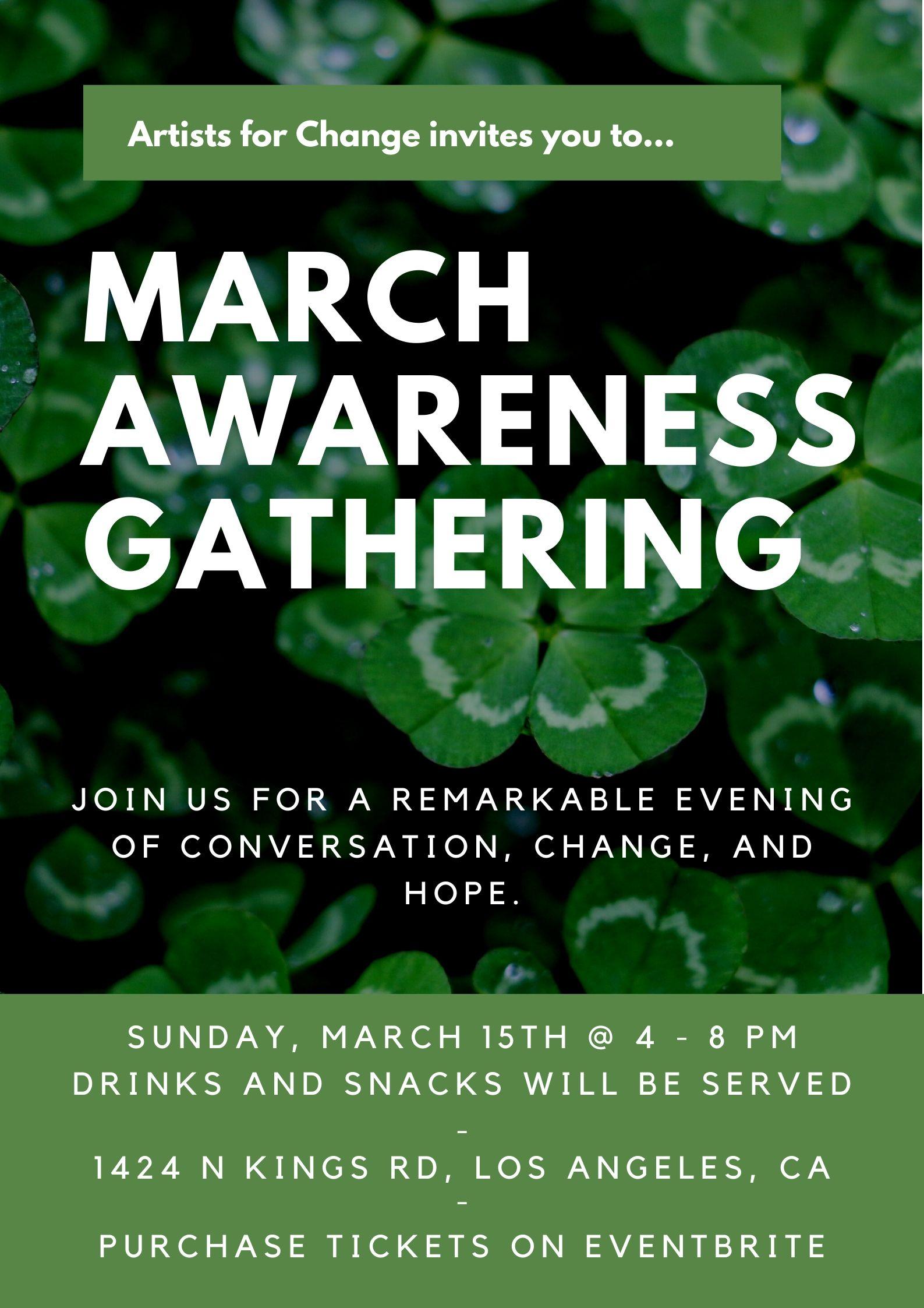 March 2020 Awareness Gathering