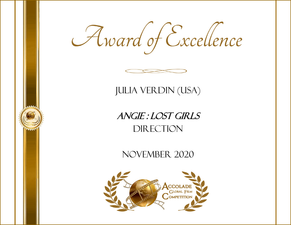 Awared of Excellence Angie: Lost Girls