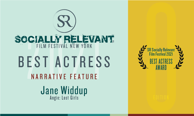 2021 Best Actress Jane Widdup